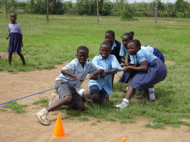 Tug of war: the definition of determination!