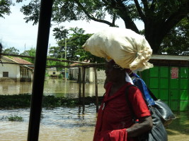 Floods at Ahero. Many people have had to leave their homes.
